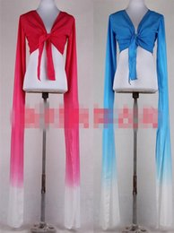 Wholesale Tassel Dance - Classical Tibetan clothes stage costume gradient conjoined long sleeves shirt sleeves slashed sleeves dance practice
