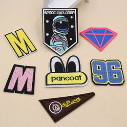 Wholesale Number Iron Applique - New Number Diamonds Patches Iron On Sewing Fabric Sticker Patch For Clothes Jeans Jacket Badge Embroidered Appliques DIY