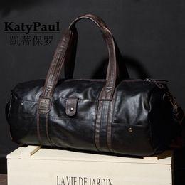 Wholesale Duffle Bag Man Leather - Wholesale-2015 High Quality Business men leather travel bags sac de voyage Cossbody Mens Leather Duffle Bag bolsa de couro masculina L483