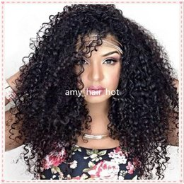 Wholesale Brazilain Natural Wave Wig - Short Afro Kinky Curly LaceWigs Brazilain Hair, Afro Kinky Lace Front Human HairWig, Glueless Kinky Curly FullLace Wig