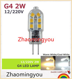 Wholesale Led Spotlight G4 - YON G4 AC 12V 220V 2W LED Corn Bulb Lamp SMD2835 Bombillas Ultra Bright spotlight Chandelier Lights Ceramic High Transmittance