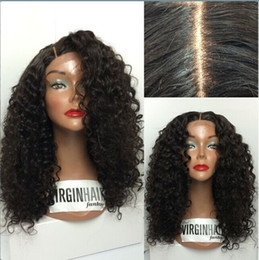Wholesale Mongolian Mix Virgin Hair - New Arrival!Top Quality Human Wigs 6A Brazilian Virgin Hai100% indian remy curly full lace wigs human hair wigs with silk top No mix virgin