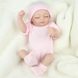 Wholesale Princess Presents - Free Shipping Hot Sell New Deign Reborn Baby Doll Fronzen Princess Girl's Great Present Soft Silicone Vinyl Doll