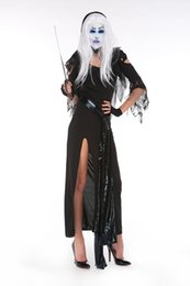 Wholesale Woman Vampire Sexy Costume - Sexy Halloween cosplay costume party zombie stage under female the ghost bride role playing