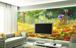 girasoles de vinilo Rebajas Fondo de pantalla de vinilo de cocina Hermosa girasol romántico notas de música TV telón de fondo decoración de la pared