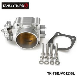 Wholesale Race Manifold - TANSKY - For Mitsubishi Lancer Evo 1 2 3 GSR RS Custom 70mm Racing Billet Throttle Body Fit Intake Manifold Sliver TK-TBEJVO123SL