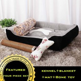 Wholesale Waterproof Dog Houses - Recommend All Seasons Breathable Waterproof Cotton Bone Pattern Dog House Dog Bed For Small Medium Large Dogs Cute Dog Beds