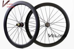 Wholesale Carbon Road Disc - New arrival,full carbon road disc brake wheelset, 50mm clincher tubular ,700C road bike disc brake wheelset