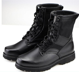 Wholesale Men Mountaineering Boots - 2016 new winter boots male leather authentic super light combat boots outdoor breathable mountaineering tactical boots free shipping