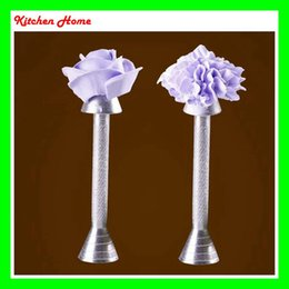 Wholesale Dessert Decoration - Baking Cake Piping Rod Aluminum Alloy Kitchen Pastry Tools Cone Holder Ice Cream Flower Roses Support Dessert Decoration