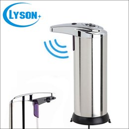 Wholesale Hand Washing Liquid - Free Shipping High Quality Metal Automatic Sensor Cheap Liquid Soap Dispenser Stainless Steel Hand Wash Sensor Soap Dispenser