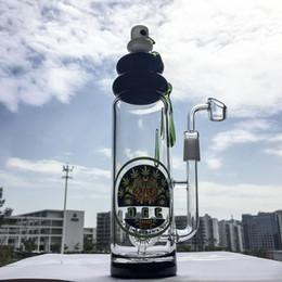 Wholesale Quartz Bottle - barrel perc Bongs with 18mm joint bottle water pipes with Quartz Banger dab Rigs 9.5inches oil rigs DGC1205