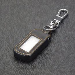 acura key Rebajas 3 BTNS remoto de cuero caso clave de la cubierta A93 Keychaine caso para Starline A93 A63 de dos vías de alarma de coche