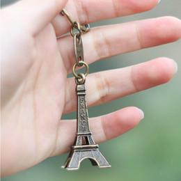 Wholesale Eiffel Torre - 3pcs lot Torre Eiffel Tower Keychain For Keys Souvenirs, Paris Tour Eiffel Keychain Key Chain Key Ring Decoration Key Holder