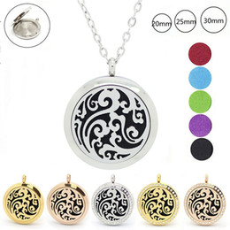 Wholesale Natural Stone Women Necklace - Wholesale- With chain as gift! 316l stainless steel magnetic aromatherapy diffuser locket necklace perfume locket pendants necklace