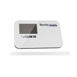Wholesale Wireless Motion Detector Alarm System - ios android APP inteilligent GSM SMS home security systems wireless motion detector alarm keypad kit with door sensor 433mhz multi language