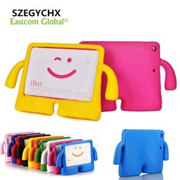 """Wholesale Ipad Smart Cover Shell - Case For ipad Pro 9.7"""" Air 1 Air 2 General Silicone Kids Thick Foam Shock Proof Soft Handle Stand Smart 3D Children Cover For ipad 9.7"""" 2017"""