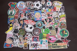 Wholesale Jdm Toys - 50 pcs random funny hit stickers for kids Home decor jdm on laptop sticker decal fridge skateboard doodle stickers toy stickers