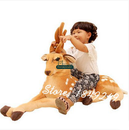 Cervo bonito on-line-Dorimytrader 43 '' / 110 Gigante Simulado Sika Veados De Pelúcia Macia de Pelúcia Big Animal Deer Toy Bom Bebê Presente Frete Grátis DY61116