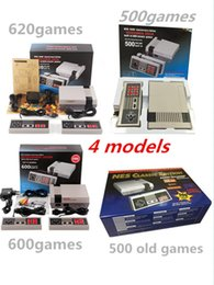 Wholesale Tv Video Player Box - TV Handheld Game Console Mini Portable Video Game Player Console For NES Windows PC Mac with 500 600 620 Built-in Games With Box