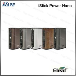 tiny batteries Promo Codes - 100% Original Eleaf iStick Power Nano TC Mod 40W 1100mah Battery VW Bypass Smart TC Vaping Modes With Tiny Appearance and Compact Size