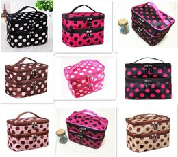 Wholesale Retro Toiletry Bag - 200pcs hot sale 8 designs Makeup Cosmetic Bags Toiletry Retro Dot Beauty Wash Case Organizer Holder Handbag For Travel