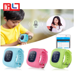 Wholesale Gprs Tracker For Kids - Q50 GPS GSM GPRS Smart Watch For Kids Locator Tracker Anti-Lost Remote Monitor Children Anti-Lost With the Retail Box