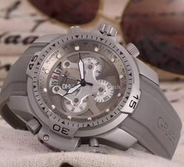Wholesale Modern Professional - Free Shipping 45MM CHRONOGRAPH CHRONO QUARTZ BRITISH MASTER CHRONOFIGHTER oversize professional dive diver wristwatch men's watch prodive