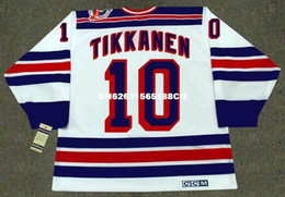 Wholesale 1994 New York Rangers - Cheap custom retro ESA TIKKANEN New York Rangers 1994 CCM Vintage Home Jerseys Throwback Mens stitched Hockey Jersey