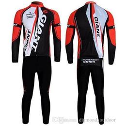 Wholesale Giant Cycling Thermal Clothing - 2015 Factory Sale Giant Winter Thermal Long Sleeve Cycling Jersey(Bib None Bib)Set Cycling Clothing Bicycle Wear