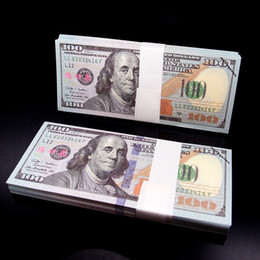 100PCS USA Dollars New $100 $50 $20 $10 $5 $2 $1 Learning Banknotes Bank Staff Training Movie Props Money Wedding Holiday Home Decoration