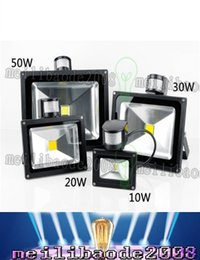 Wholesale Infrared Light Outdoor - PIR Infrared Motion Sensor led floodlight 110-265V Waterproof 10W 20W 30W 50W COB IP65 led Flood Light for led spotlight outdoor Lights LLFA