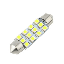 Wholesale c5w smd - 42mm C5W C10W SV8.5 12 led 3528 smd 3528-SMD Festoon CANBUS NO Error Car Licence Plate Light Auto dome lamps Reading Lights 12V
