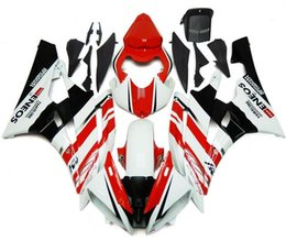 Wholesale Yzf Cowling - Injection Fairings set For Yamaha YZF600 YZF R6 06 07 YZF-R6 2006 2007 ABS Motorcycle Fairing Kit Bodywork Motorbike Cowling Red White New