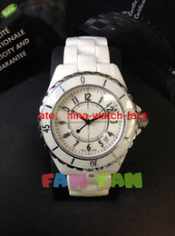 Wholesale Scratch Resistant Sapphire - Luxury NEW 2012 Men's H0970 White Ceramic 38mm Automatic Day Brand NEW Scratch Resistant Sapphire cool mens watches