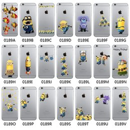Wholesale Minions Iphone Back Case - Minion Printed TPU Soft Back Cover For iPhone 6 6S 6Plus 6S Plus Clear Cartoon Style