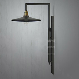 Wholesale Train Lamp Post - American country style retro warehouse creative living room Continental train station courtyard bedside wall lamps