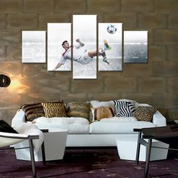 Canada Vente chaude 5 Panneau Cadre Célèbre Sports Star Photo Sur Le Mur De Toile Peinture À L'huile Impression Décor À La Maison Abstraite Unique Cadeaux cheap abstract sports canvases Offre