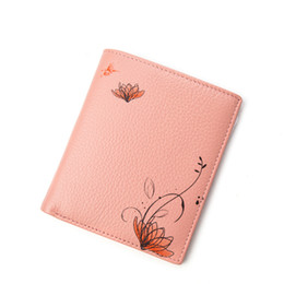 Wholesale Ladies Bags Models - HMILY Women Wallet Follow Pattern Pocket Genuine Leather Ladies Purse Mini Card Holder Cute Ladies Money Bag Ultrathin Model