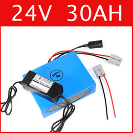 Wholesale 24v battery electric bike - 24V 30AH lithium battery super power 29.4V battery lithium ion battery + charger + BMS , electric bike pack Free customs duty