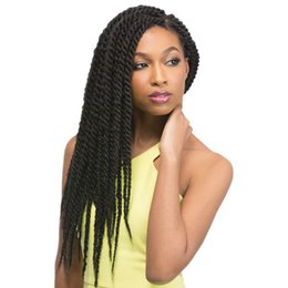 Wholesale Cheap Twist Hair - 18 and 24 inch cheap synthetic havana twist hair extensions hair 12pcs per pack hot sale favorable for black women