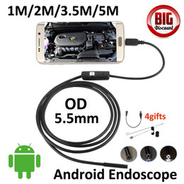 Wholesale Endoscope Camera 2m - Automotive equipment Testing Endoscope 2M Android Endoscope Camera Flexible Cable Snake Tube Inspection Borescope Pinhole Camera
