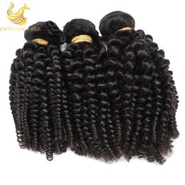 Wholesale Short Curly Hair Piece - Peruvian Bouncy Curly Funmi Hair Weft Human Hair Bundles 3pc lot 100g Funmi Spring Curly Short Virgin Brazilian Human Hair Extensions Weaves