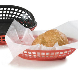 Wholesale Picnic Basket Food - 6pcs French Fries Basket Oval Plastic Fast Food Basket Picnic Plates,Sandwich and Fry Serving Tray,platos plastic Free shipping