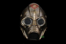 Wholesale Halloween Gas Masks - Wholesale- Horror Movie Resident Evil 3 Spooky Mask Halloween CS Protective Gas Full Face Party Cosplay Resin Masks Helmet Masquerade Props