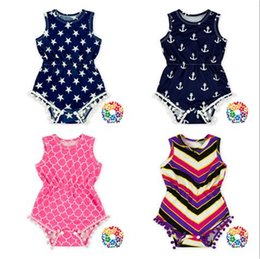 31569d79037 02) 12Pcs Lot DHL Free Shipping 2016 Cheap Baby Clothes Rompers With Pom  Pom Baby Girls Toddler Summer Rompers