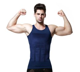 Wholesale Selling Waist Trainers - Wholesale-Hot Selling men bodysuit waist training corset for men Sport Vest Top waist trainer waist cincher sauna suit hot shaper body