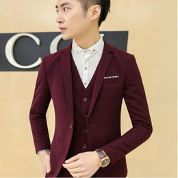 Wholesale Dress Size Small Free Shipping - Wholesale-2016 High Quality Fashion Mens Lapel Collar Dress Suits Coat Small Jacket Cotton Blend Blazers Plus Size 6XL Free Shipping