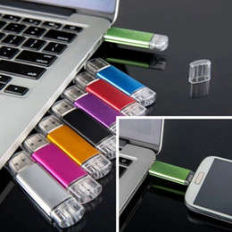 Wholesale 16gb Usb Flash Drive Full - Full real capacity 4GB 8GB 16GB 32GB 64GB OTG USB flash drive memory stick metal USB external storage micro usb memory stick