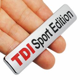 Logo rouge en métal TDI Sport Edition Logo Turbo lettre de voiture emblème emblème chromé Stickers pour VW POLO GOLF CC TT JETTA GTI TOUAREG ? partir de fabricateur